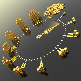 Time is money. Hi-res digitally generated image.